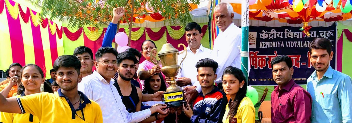 Photograph of Winning House in Annual Sports Day 2019
