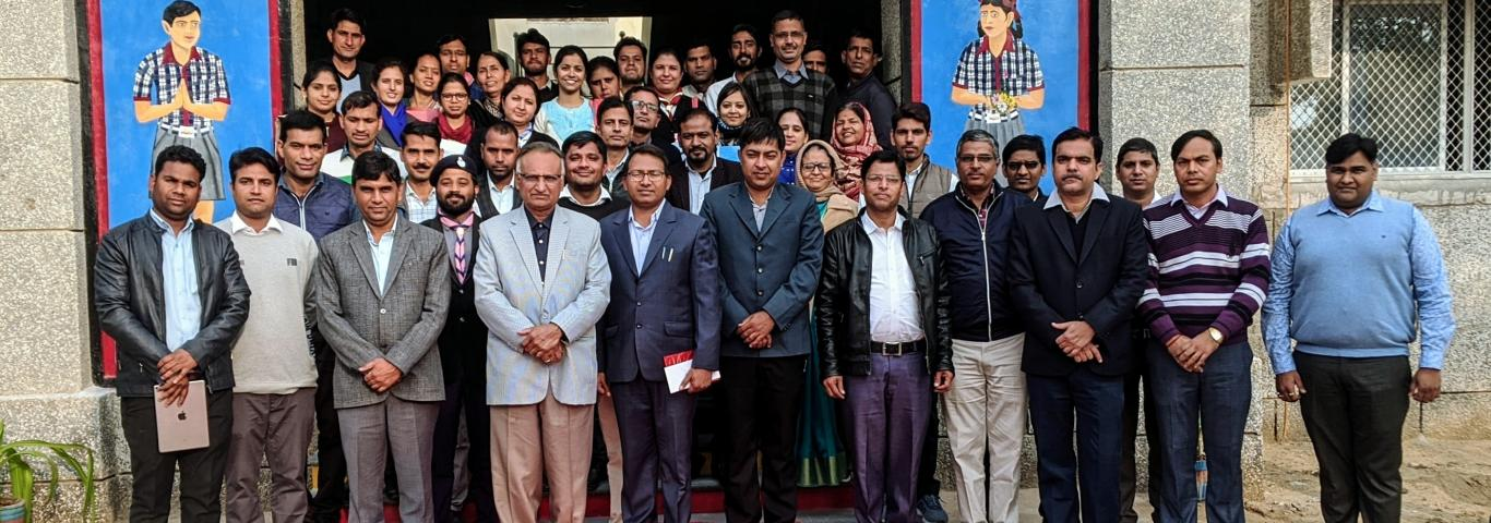 Hon'ble Shri Y. P. Singh,DC KVS RO Jaipur & inspection team along with staff of KV Churu